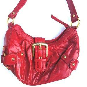Bisou Bisou Red Patent Leather Handbag